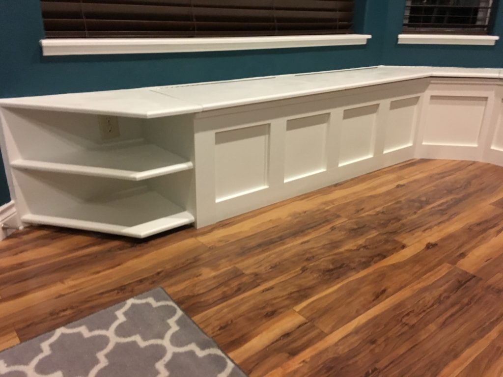 Custom Built-In Bench